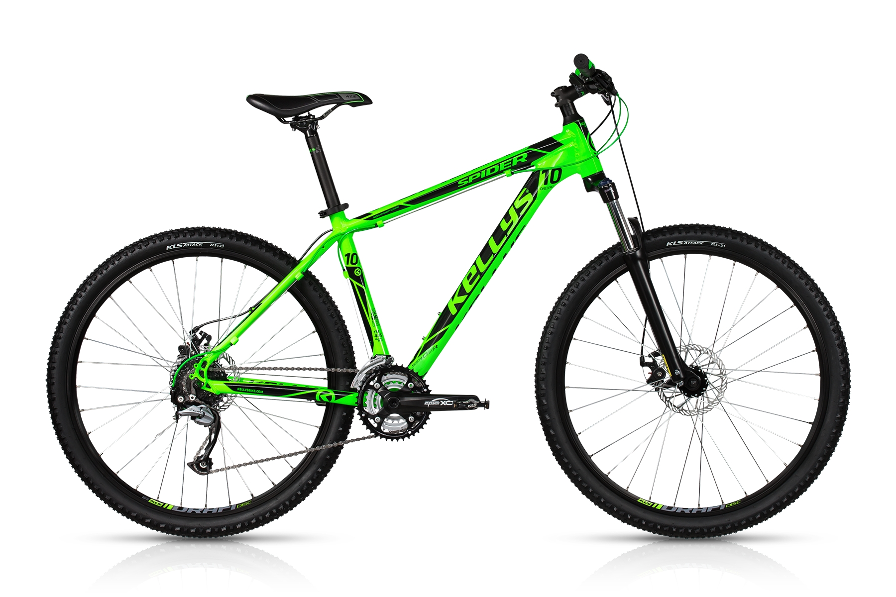 K17036 KELLYS Spider 10 Toxic Green 17.5´´ - Mile-Multisport