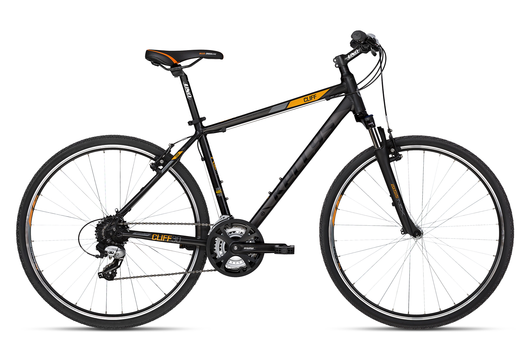 K18177 KELLYS Cliff 30 Black Orange 23´´ - Fahrradhaus Haske