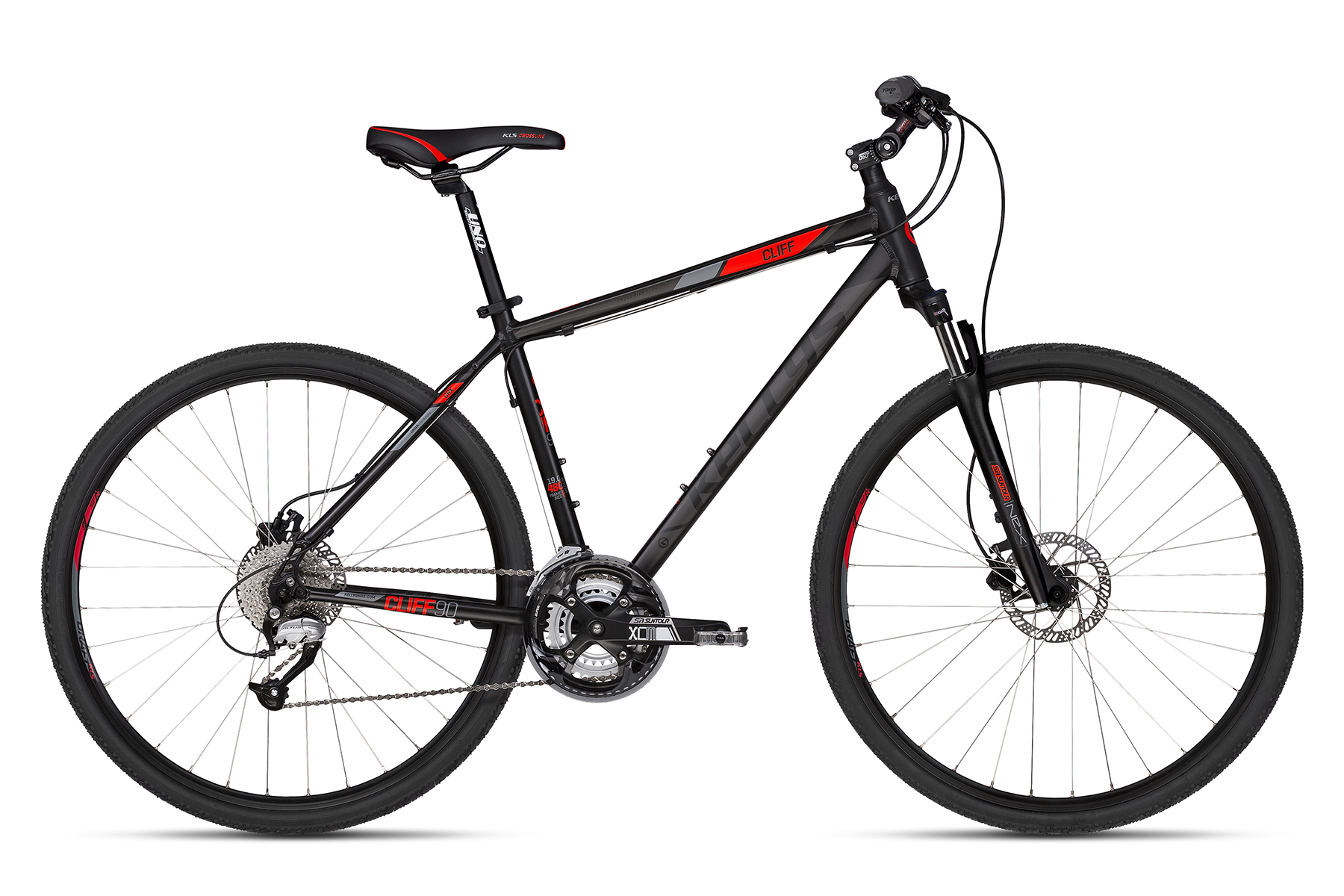 K18170 KELLYS Cliff 90 Black Red 21´´ - Fahrrad Hammer