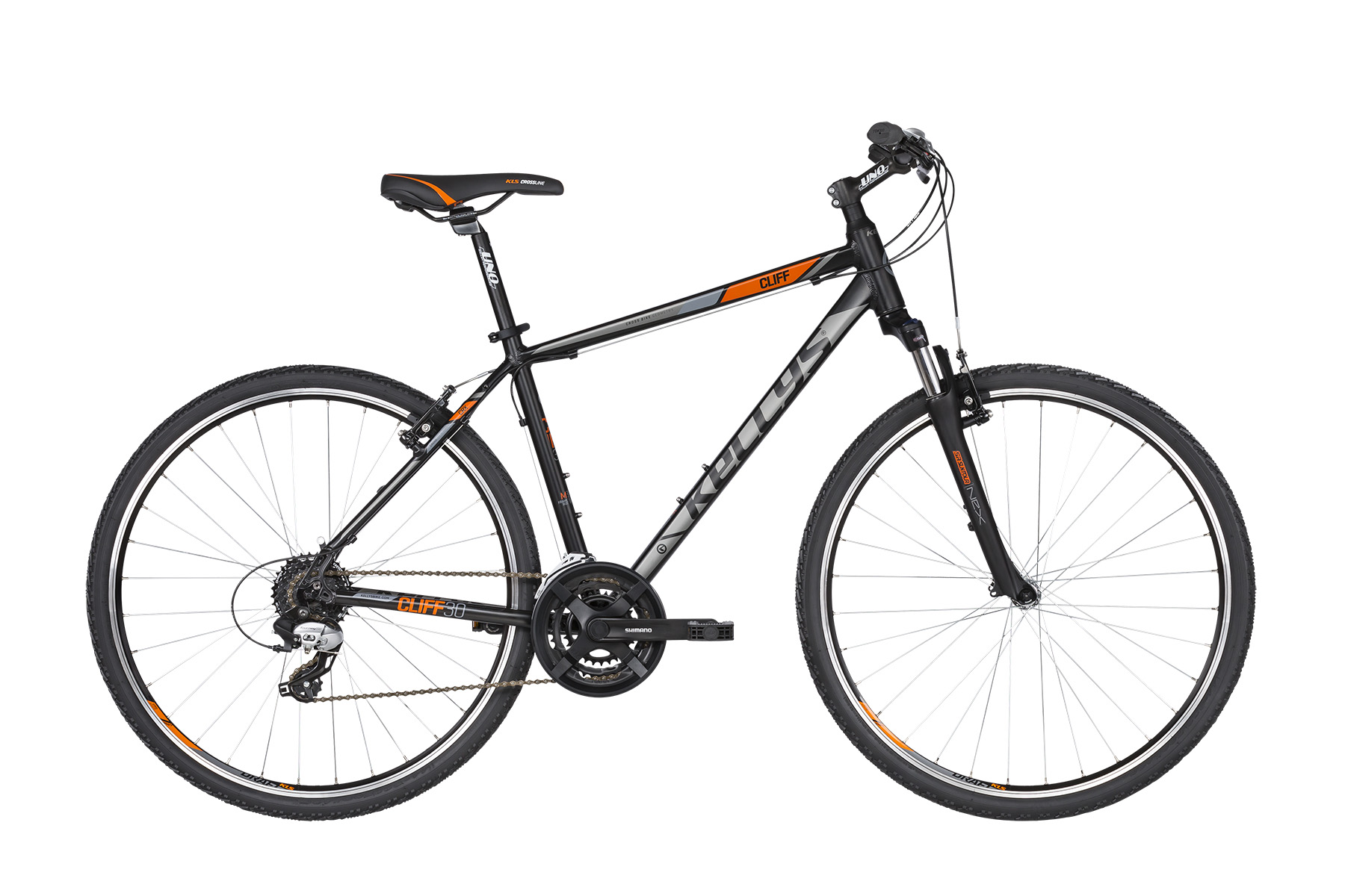 K19170 KELLYS Cliff 30 Black Orange S - Fahrradhaus Haske