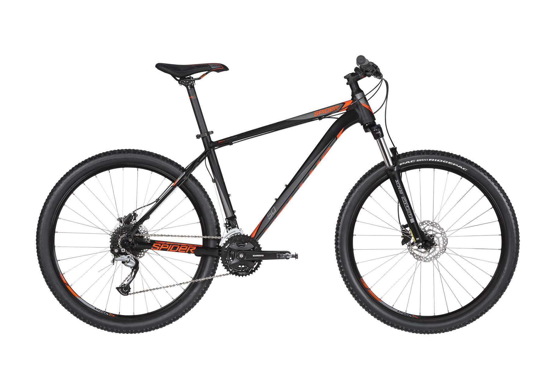 KELLYS Spider 50 Black Orange 27.5´´ L - Mega Handelsgesellschaft