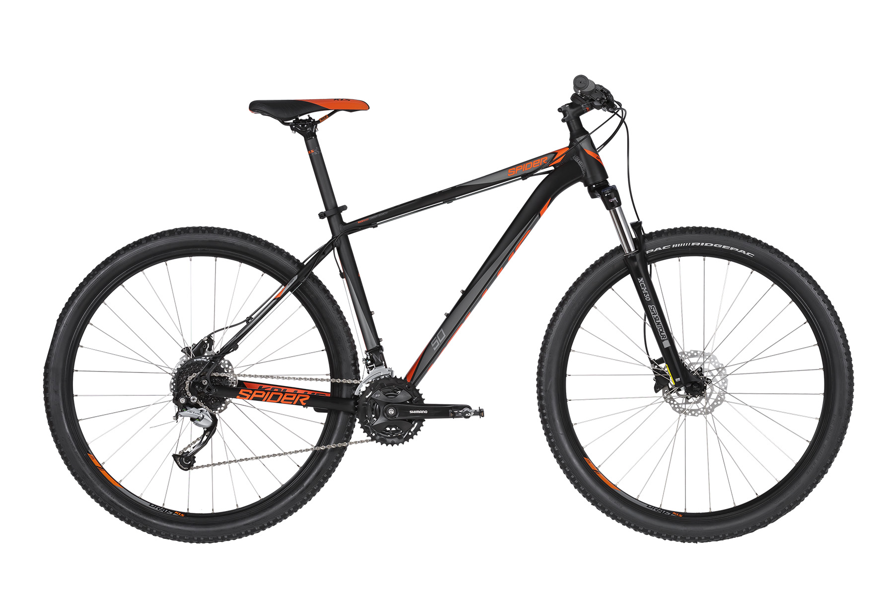K19085 KELLYS Spider 50 Black Orange 29´´ L - Fahrradhaus Haske