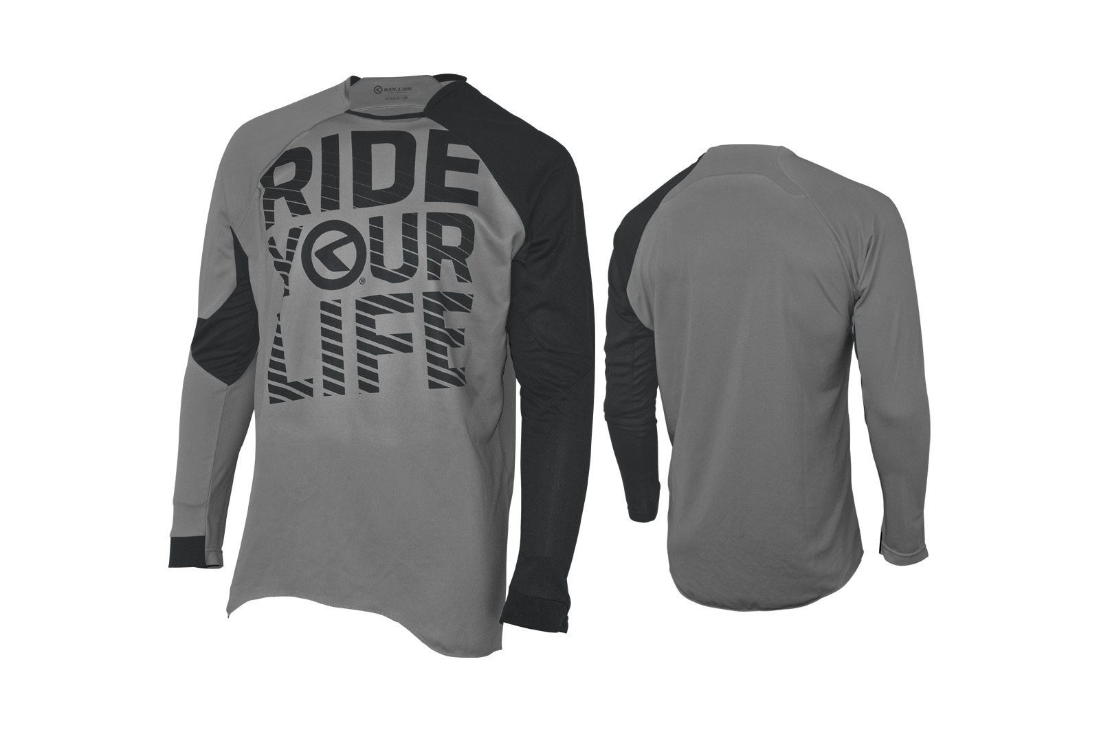 Langarmtrikot KELLYS RIDE YOUR LIFE grey - L - Langarmtrikot KELLYS RIDE YOUR LIFE grey - L