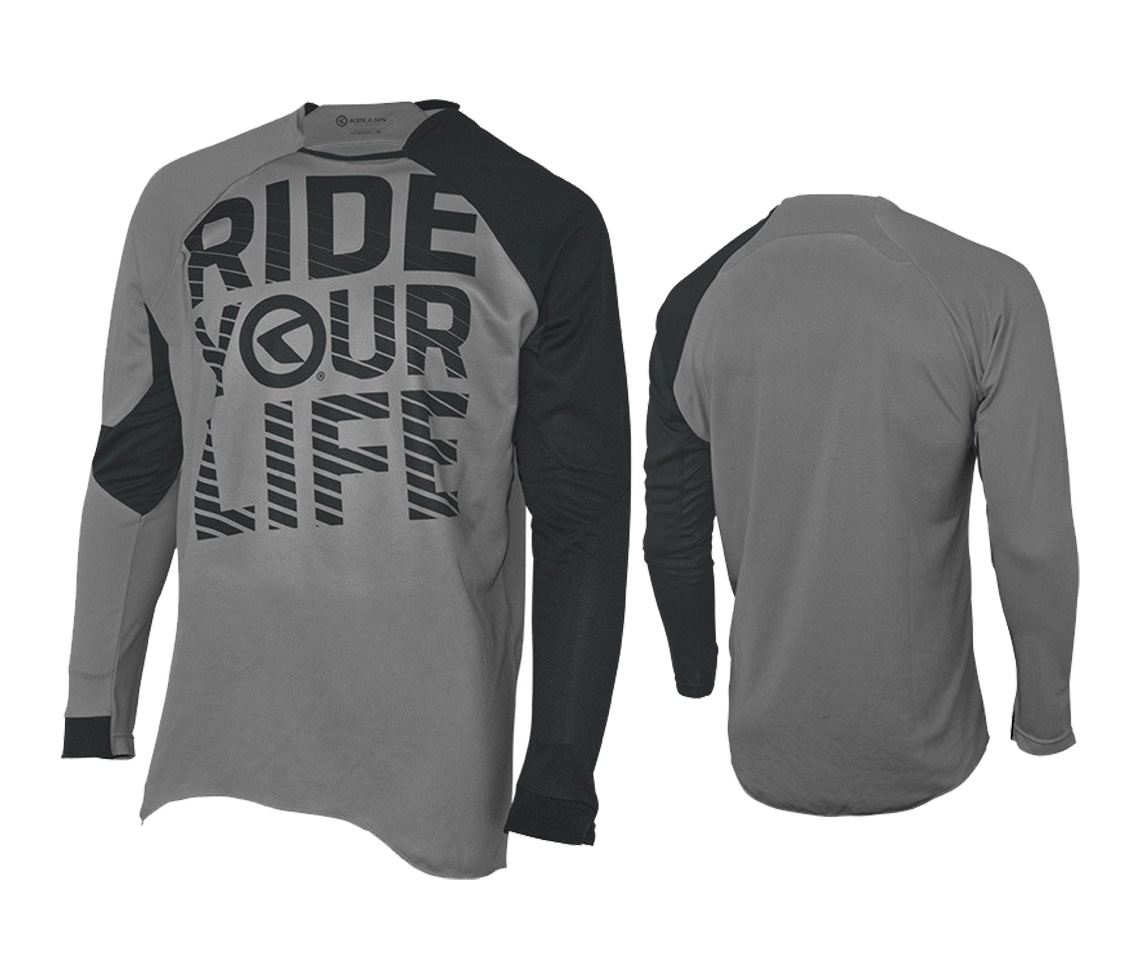 Langarmtrikot KELLYS RIDE YOUR LIFE grey - XXL - Langarmtrikot KELLYS RIDE YOUR LIFE grey - XXL