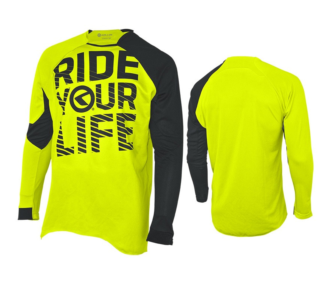 Langarmtrikot KELLYS RIDE YOUR LIFE lime - M - Langarmtrikot KELLYS RIDE YOUR LIFE lime - M