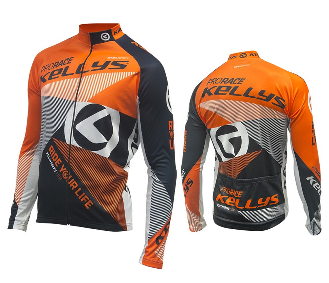 Langarmtrikot KELLYS PRO Race orange - XXL (016) - Langarmtrikot KELLYS PRO Race orange - XXL (016)