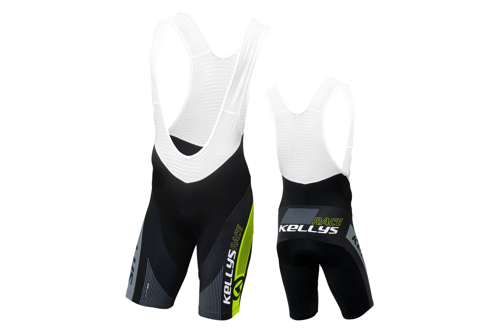 Profiträgerhose KELLYS PRO Race mit Sitzpolster lime - S - Sport Cycling Meindl - professional cycling