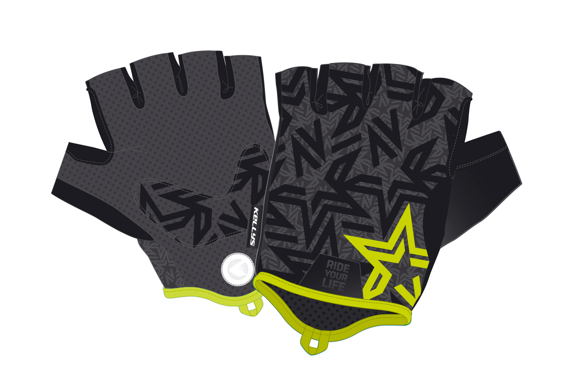 Handschuhe IMPULSE short lime L - Mile-Multisport