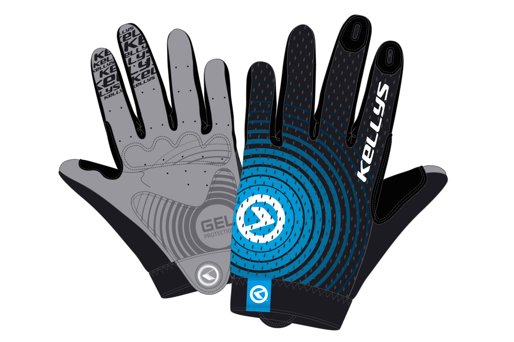 Handschuhe INSTINCT long black-blue XL - Handschuhe INSTINCT long black-blue XL