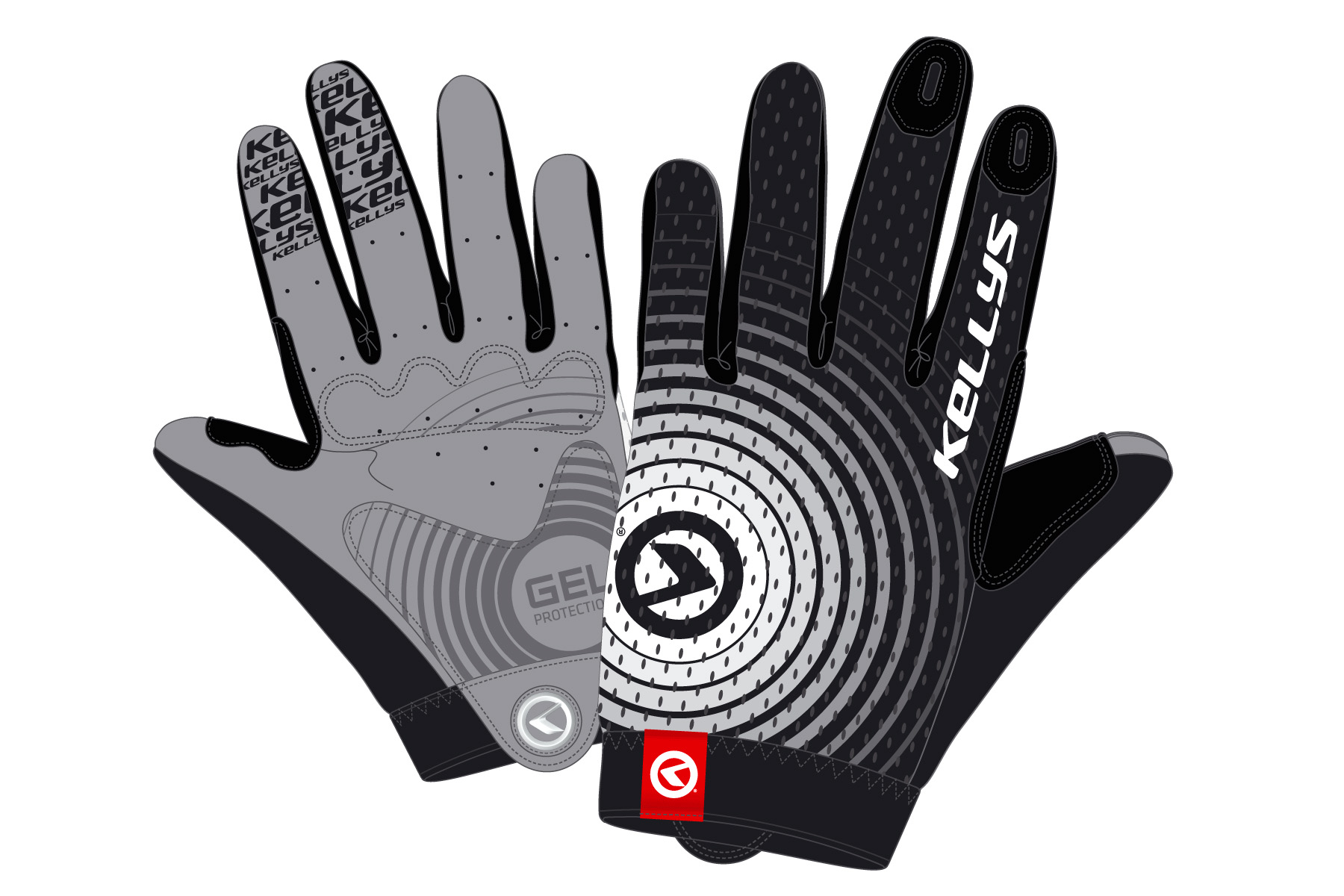 Handschuhe INSTINCT long black-white L - Handschuhe INSTINCT long black-white L