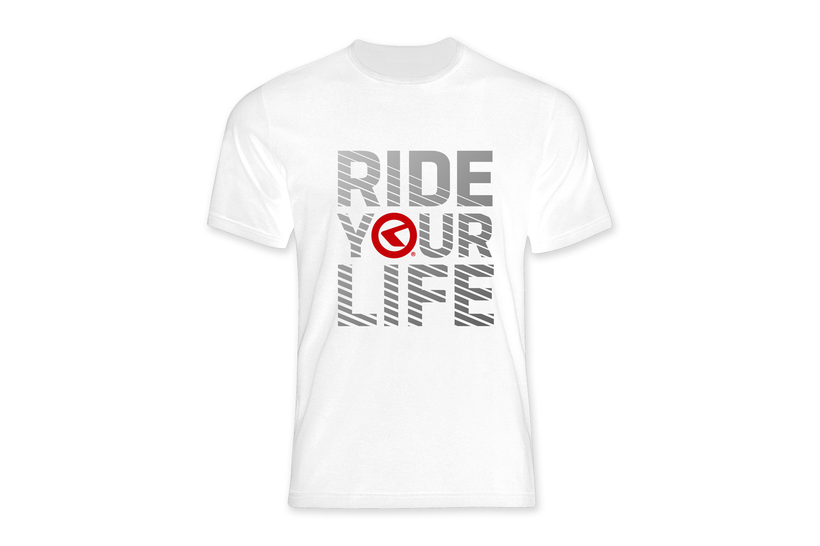 T-Shirt KELLYS RIDE YOUR LIFE kurzarm white - L - Mega Handelsgesellschaft