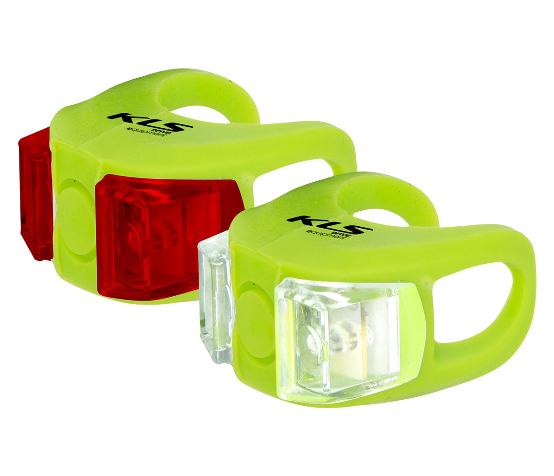 Lampenset KLS TWINS, lime green - HiroBike Onlineshop