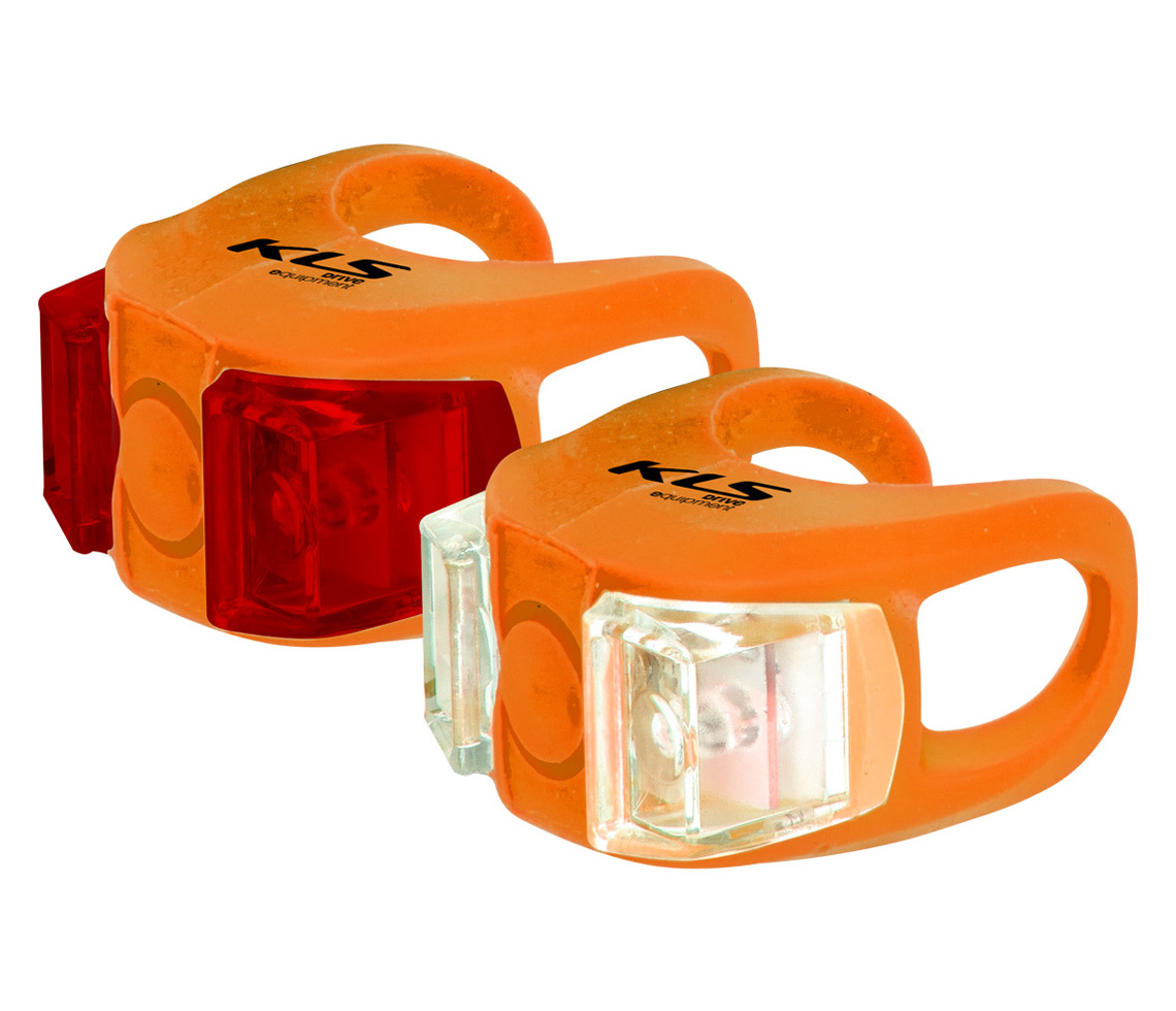 Lampenset KLS TWINS, orange - HiroBike Onlineshop